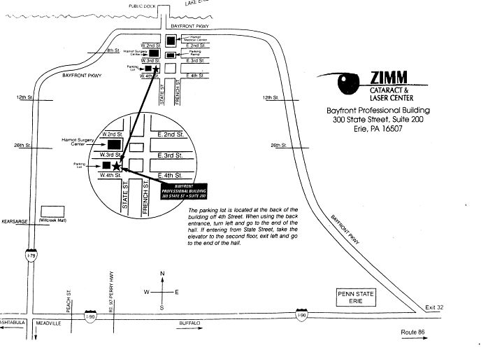 Zimm Cataract & Laser Center Map